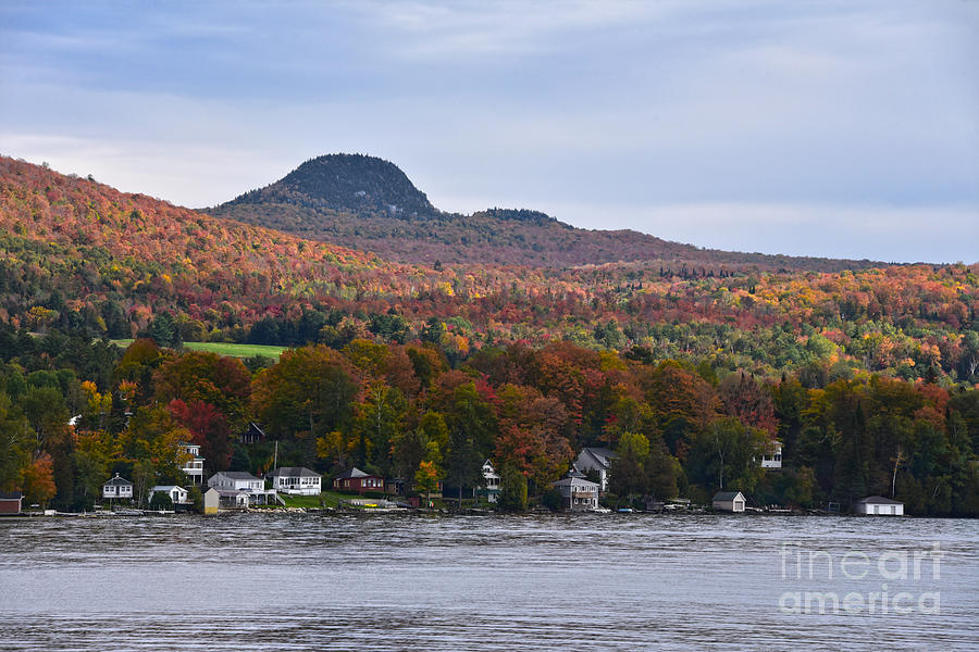 Lake Willoughby, Vermont, in Autumn by Catherine Sherman