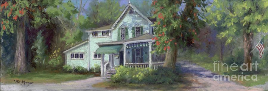 Lakeside Cottage On Cedar Street Painting