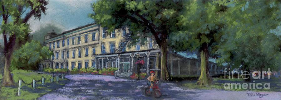 Lakeside Hotel Painting