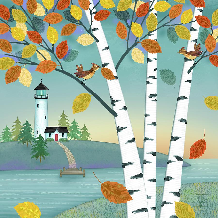 Lakeside in the Fall by Valerie Drake Lesiak