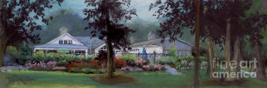 Lakeside Pool House Painting
