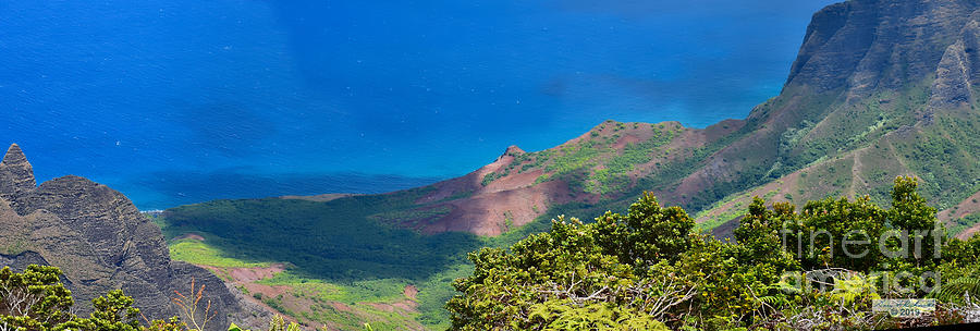 Lalalau Lookout Pano 2 by Gary F Richards