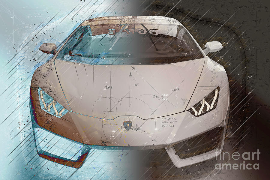 Lamborghini Digital Art - Lamborghini Abstract Project by Stefano Senise