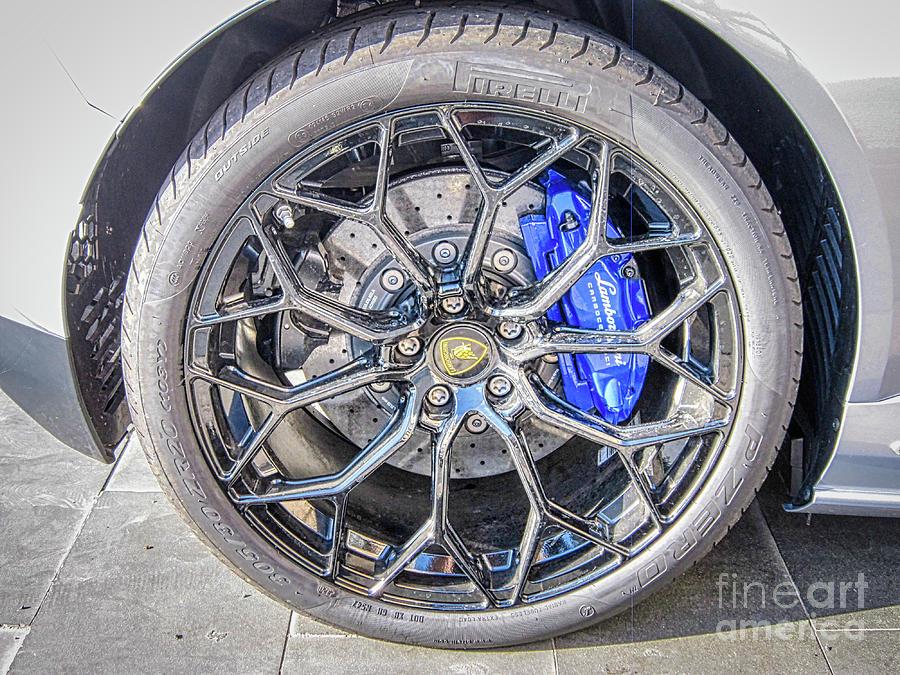 Lamborghini Photograph - Lamborghini Wheel Wall Art by Stefano Senise