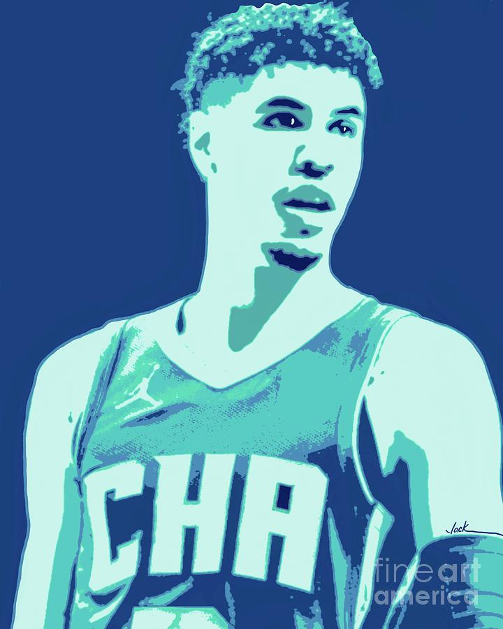 Charlotte Painting - LaMelo Ball by Jack Bunds