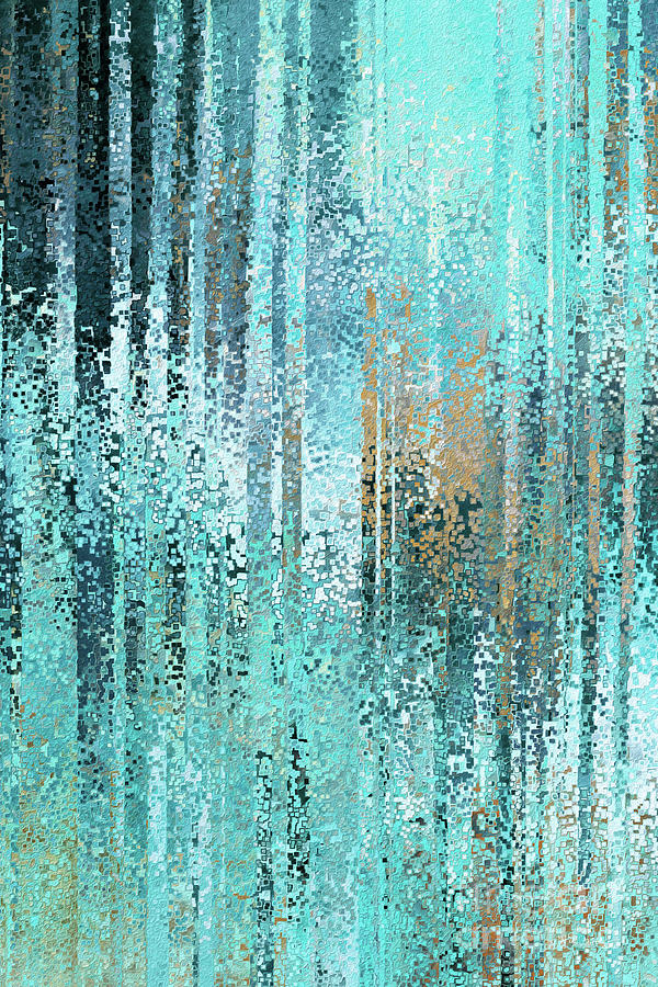 Blue Painting - Lamentations 3 22. His Compassions Fail Not. by Mark Lawrence