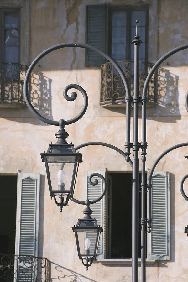 Lamp, Canobbio, Lake Maggiore, Piedmont, Italy, Europe Photograph by Neil Emmerson / robertharding