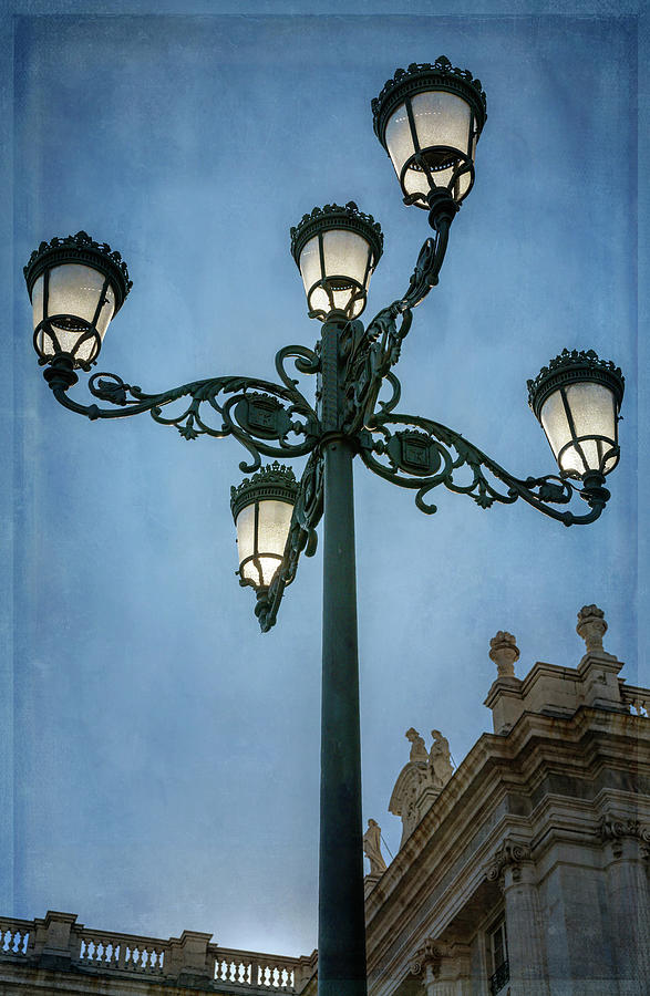 Lamppost In Madrid Spain Photograph