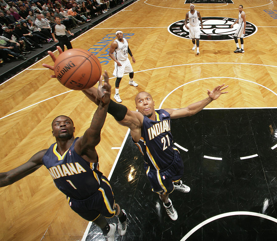 Lance Stephenson and David West Photograph by Nathaniel S. Butler