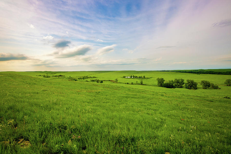 Kansas Photograph - Land of the Tallgrass - Spring in the Kansas Flint Hills by Southern Plains Photography