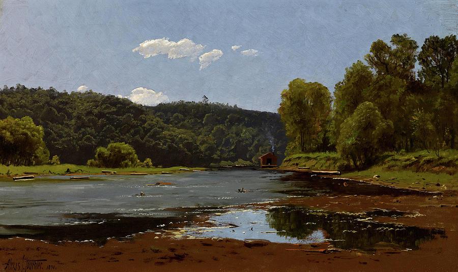 Fournier Painting - Landscape, 1890 by Alexis Jean Fournier