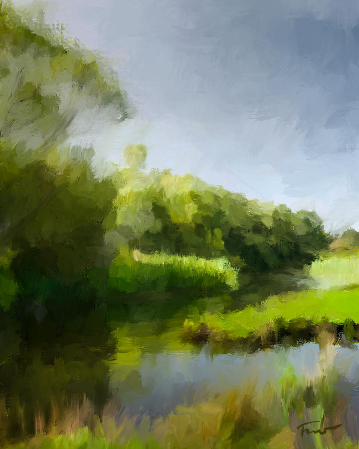 Landscape Painting - Landscape Cornwall by Peter Farago