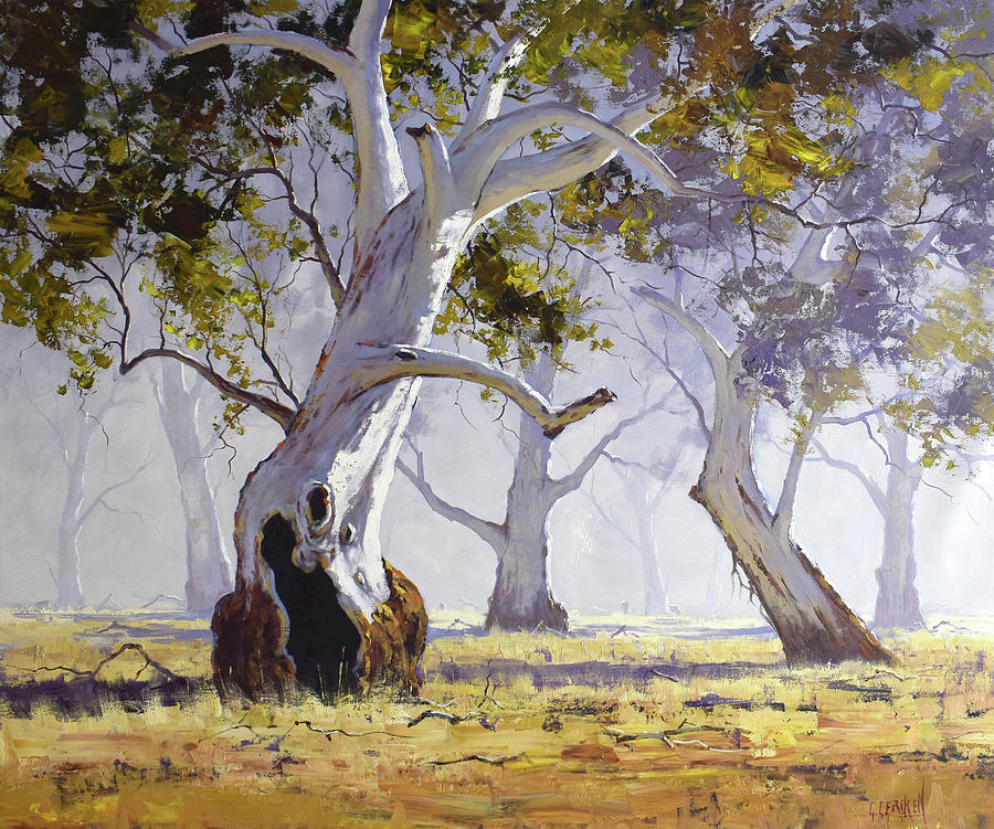 Landscape Trees Painting