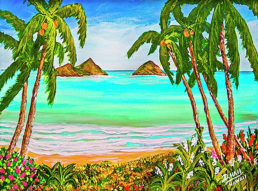 Lanikai Beach Oahu Hawaii #358 Painting