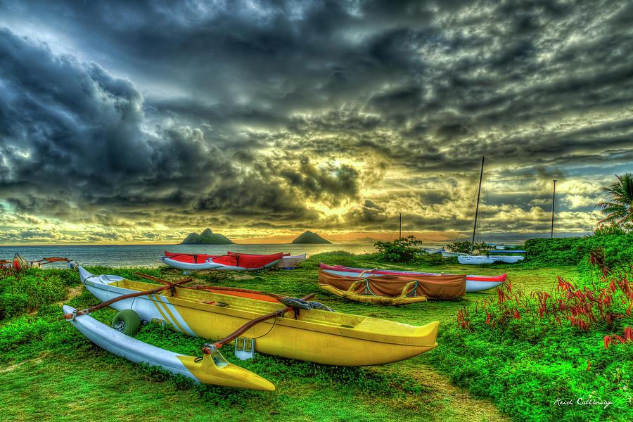 Lanikai Beach Sunrise 8 Oahu Hawaii Seascape Vacation Adventures Art by Reid Callaway