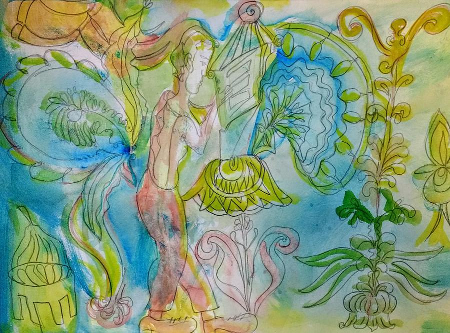 Blue Painting - Lantern, Light My Way by Joyce Lieberman
