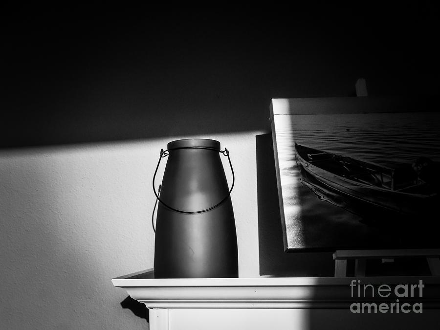 Black And White Photograph - Lantern Vase by Eddy Mann