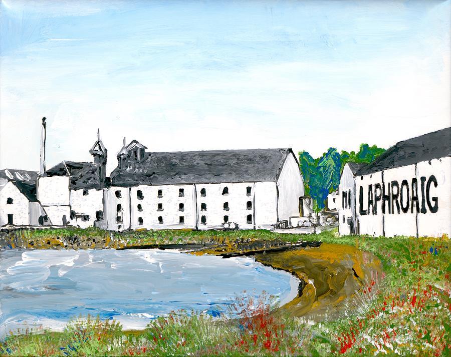 Laphroaig Painting - Laphroaig Distillery by Britt Miller