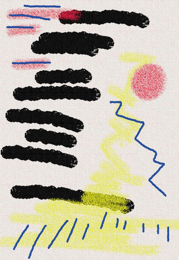 Large Abstract No 7 Mixed Media