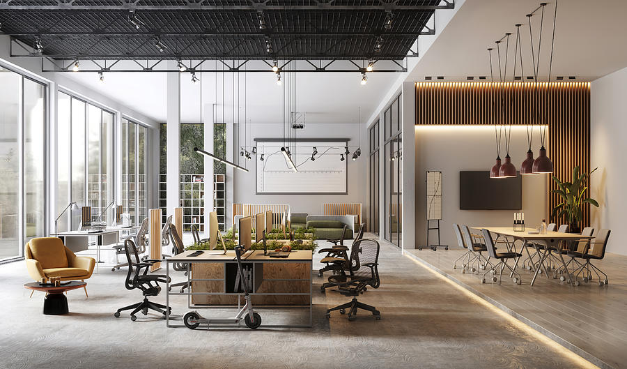 Large and modern office interiors Photograph by Alvarez