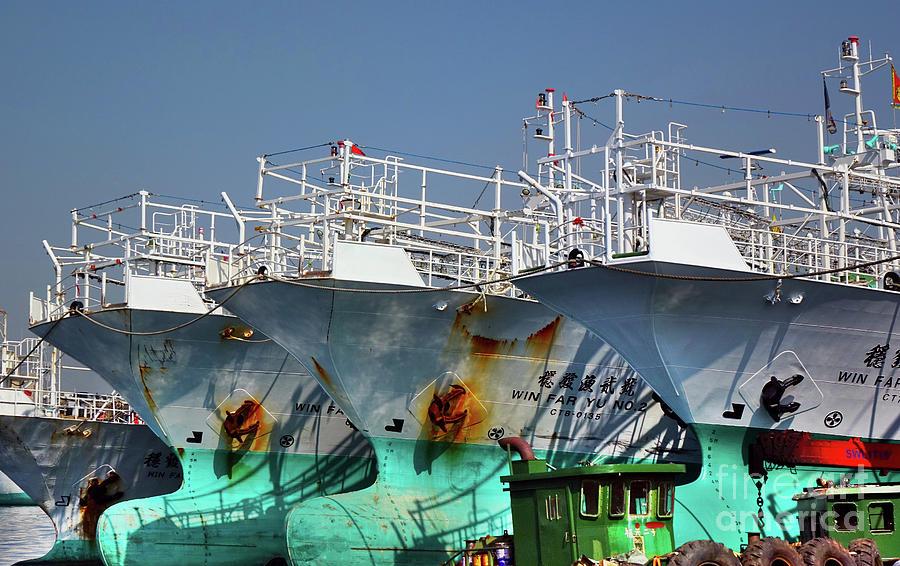 Large Fishing Trawlers in Taiwan by Yali Shi