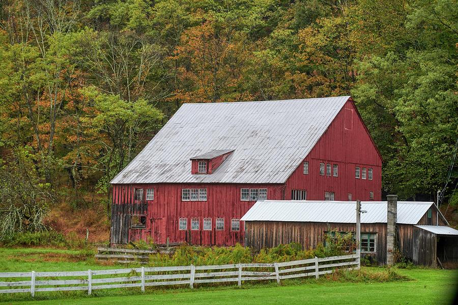 Large Red Barn by Paul Freidlund