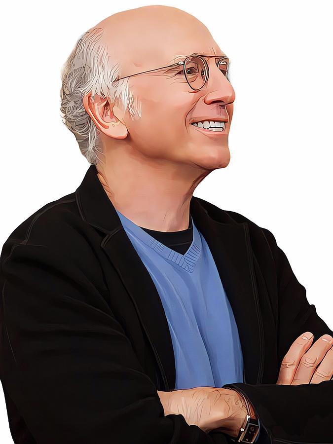 Curb Your Enthusiasm Painting - Larry David portrait by Vincent