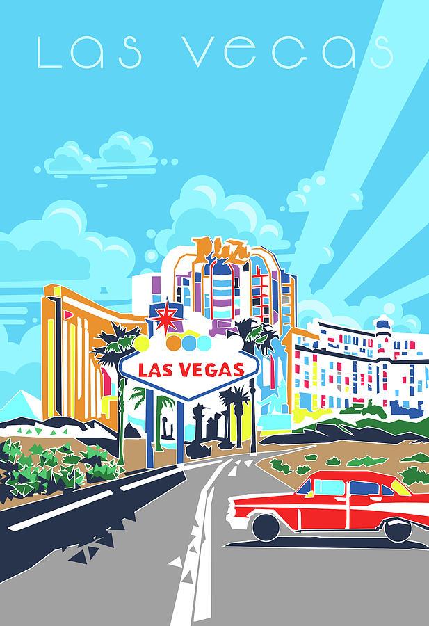 Las Vegas City Modern Digital Art