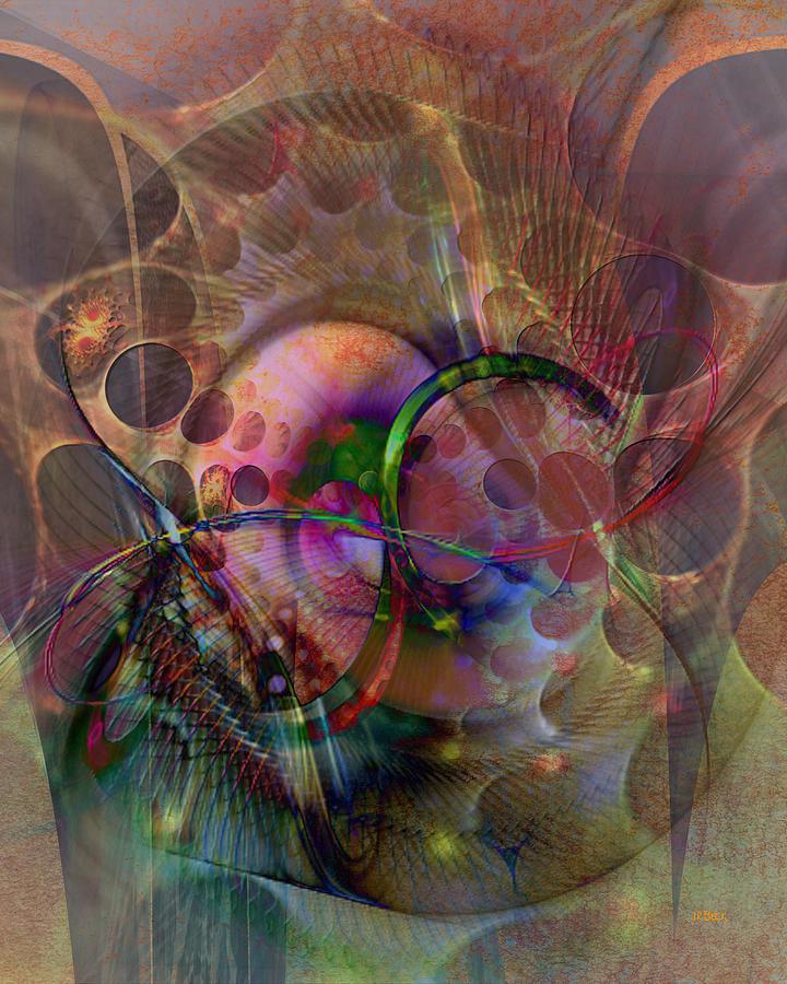 Abstract Digital Art - Lash Out by John Robert Beck