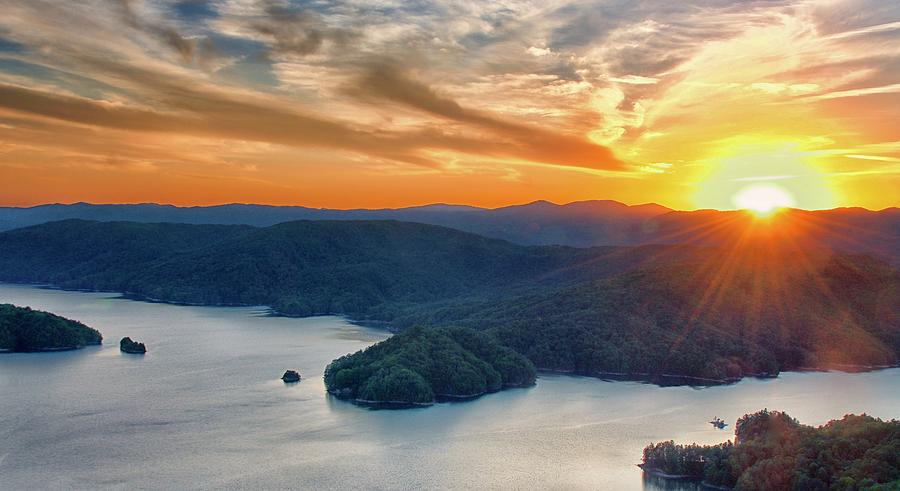 Last Light over Lake Jocassee by Blaine Owens Photography