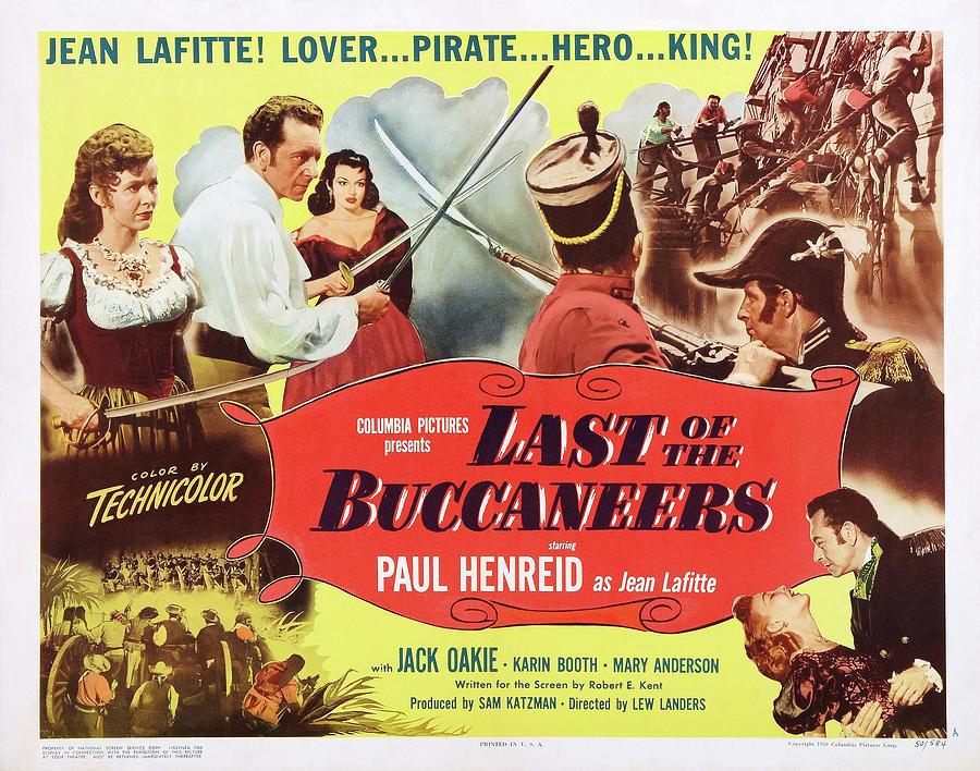 last Of The Buccaneers, With Paul Henreid, 1950 Mixed Media