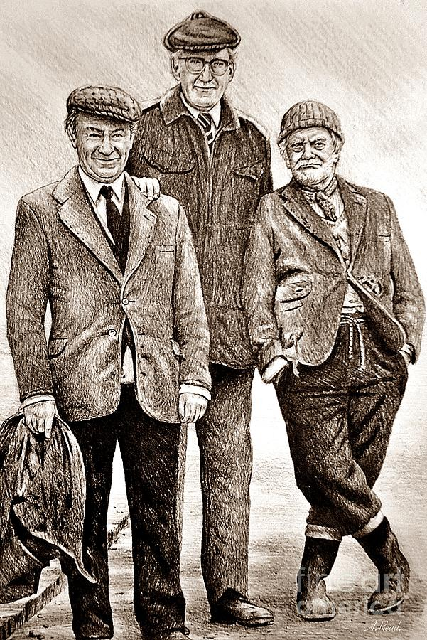 Last Of The Summer Wine Sepia Drawing