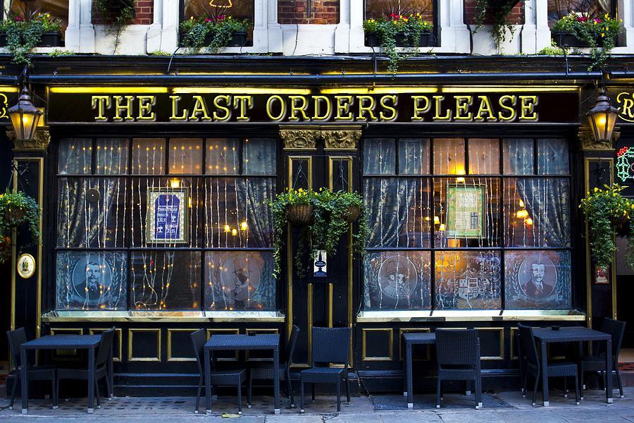 Last Orders Please Pub Photograph