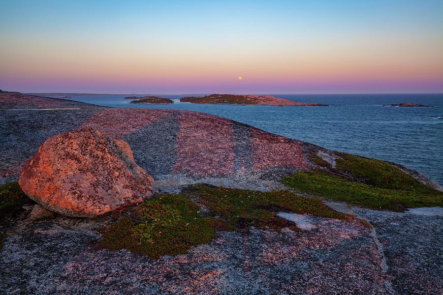 Last Sunset Light At Pollys Cove by Irwin Barrett