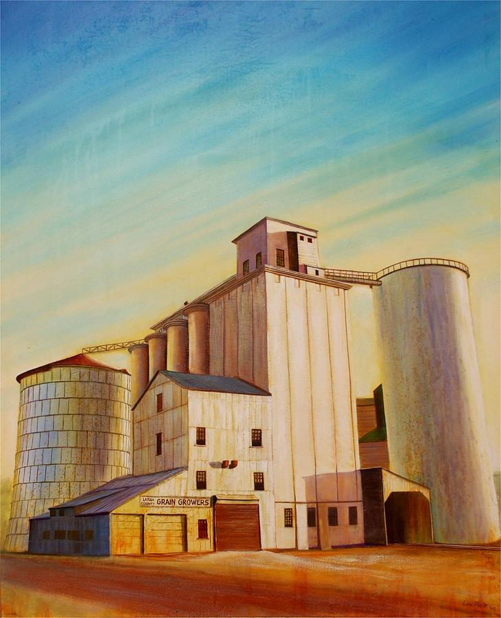 Grain Painting - Latah County Grain Growers by Leonard Heid