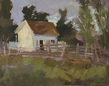 Impressionism Painting - Late Afternoon Grant Kohrs Ranch Plein Air by Betty Jean Billups