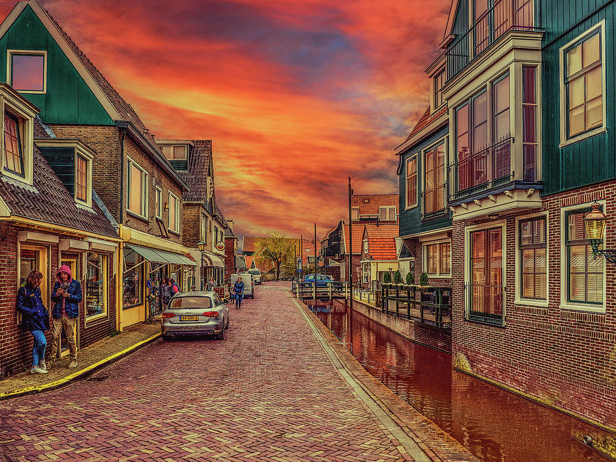 Late Afternoon In Volendam Photograph