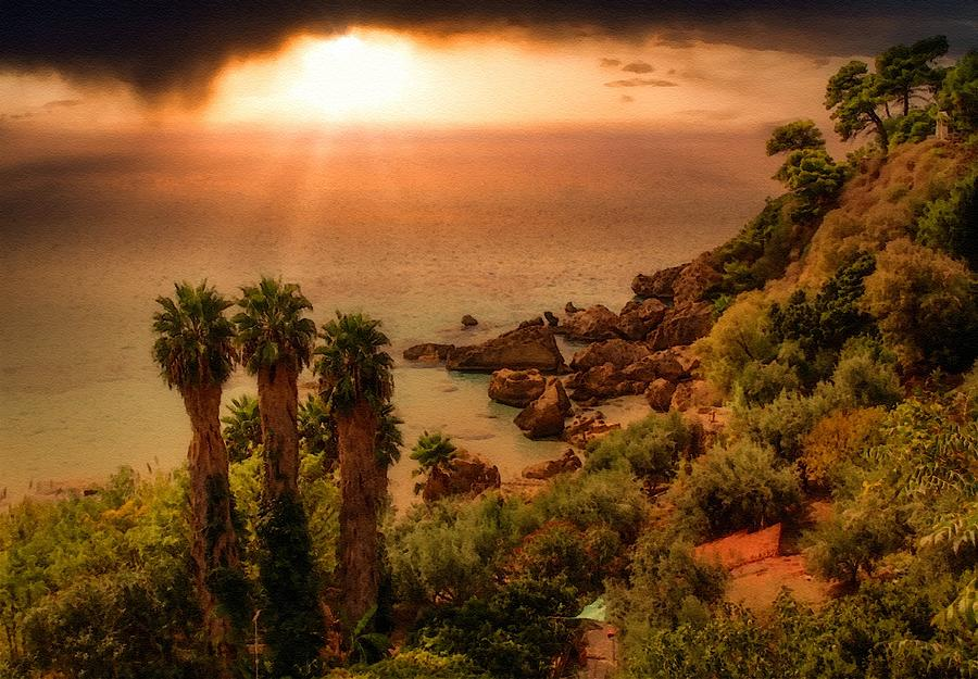 Late Afternoon Sunset At Palmcliffhurst L B Digital Art
