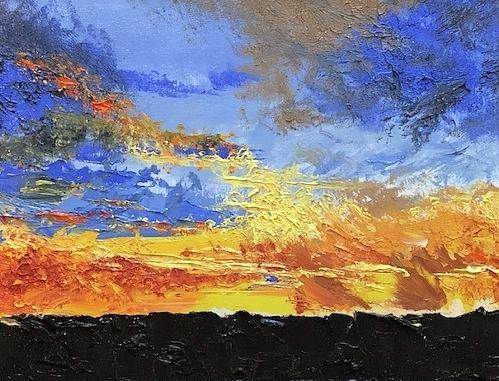 Late Day Blaze by Donna Joy Cavaliere