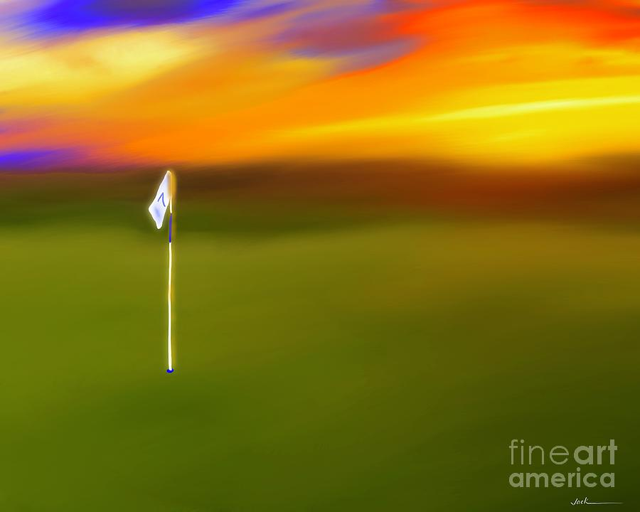Golf Painting - Late Round of Golf by Jack Bunds