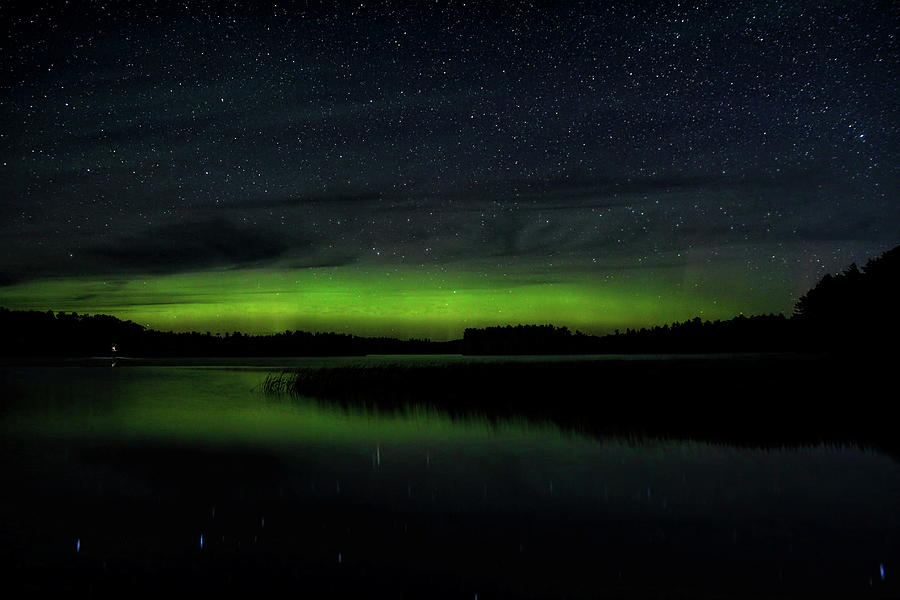 Late Summer Aurora Over Gilmore Lake by Dale Kauzlaric