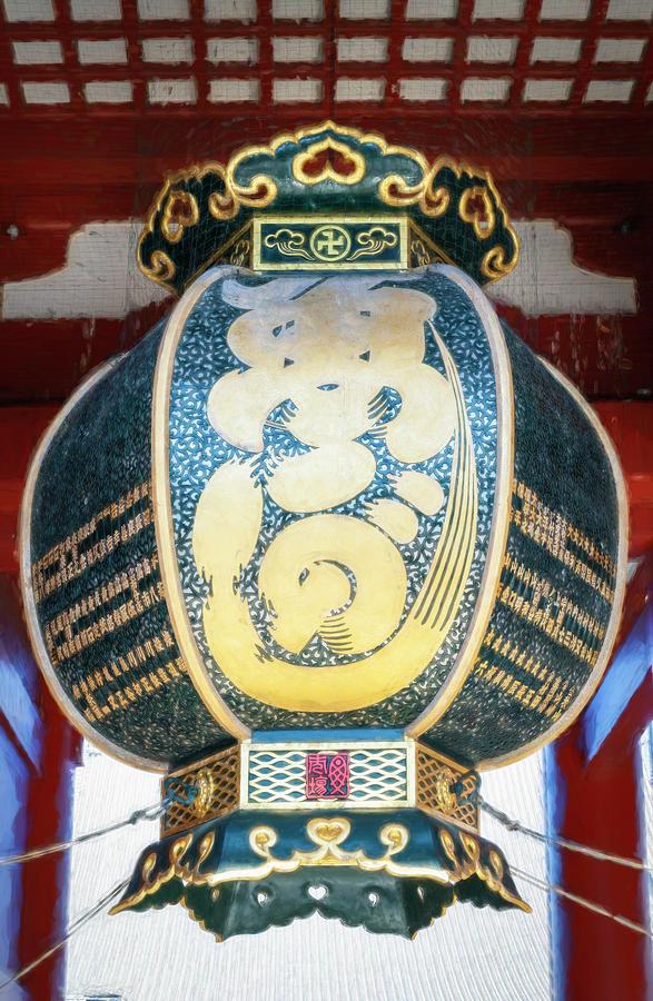 Lantern At Sensoji Temple Tokyo Japan Painterly Photograph