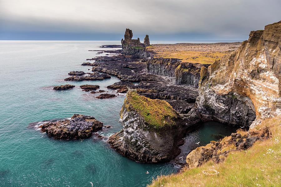 Latrabjarg Bird Watching Sea Cliffs Iceland Photograph