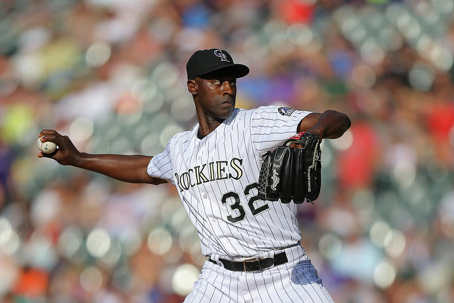 Latroy Hawkins Photograph by Justin Edmonds
