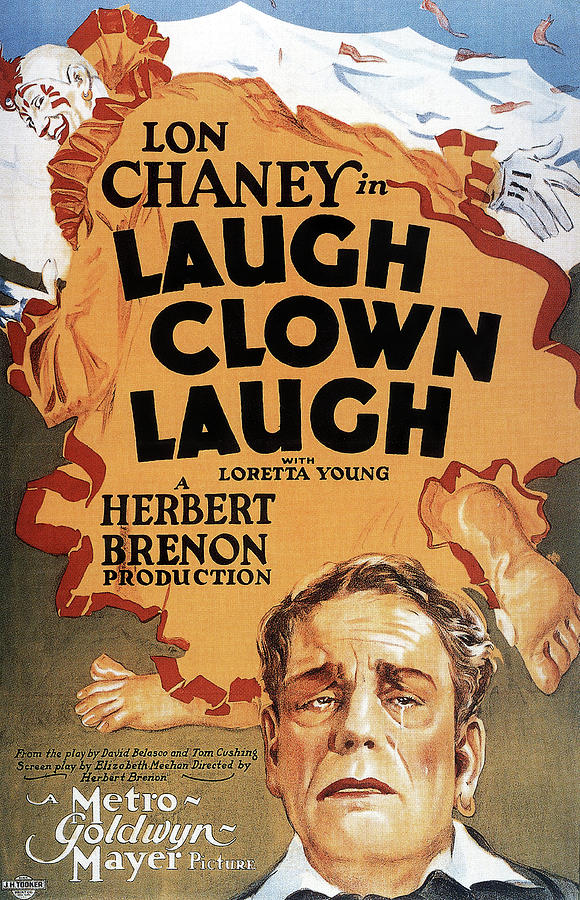 laugh Clown Laugh, With Lon Chaney, 1928 Mixed Media