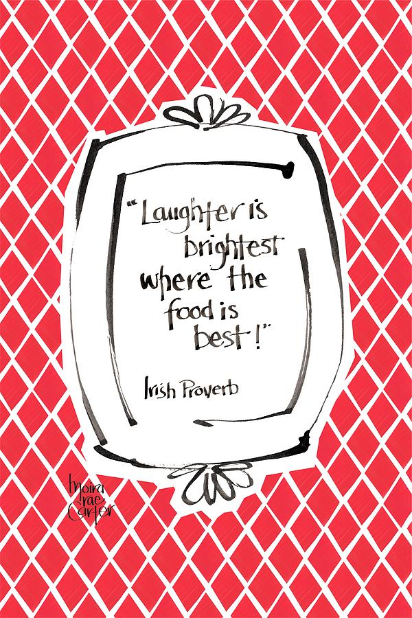 Laughter Mixed Media - Laughter is brightest by Moira Carter