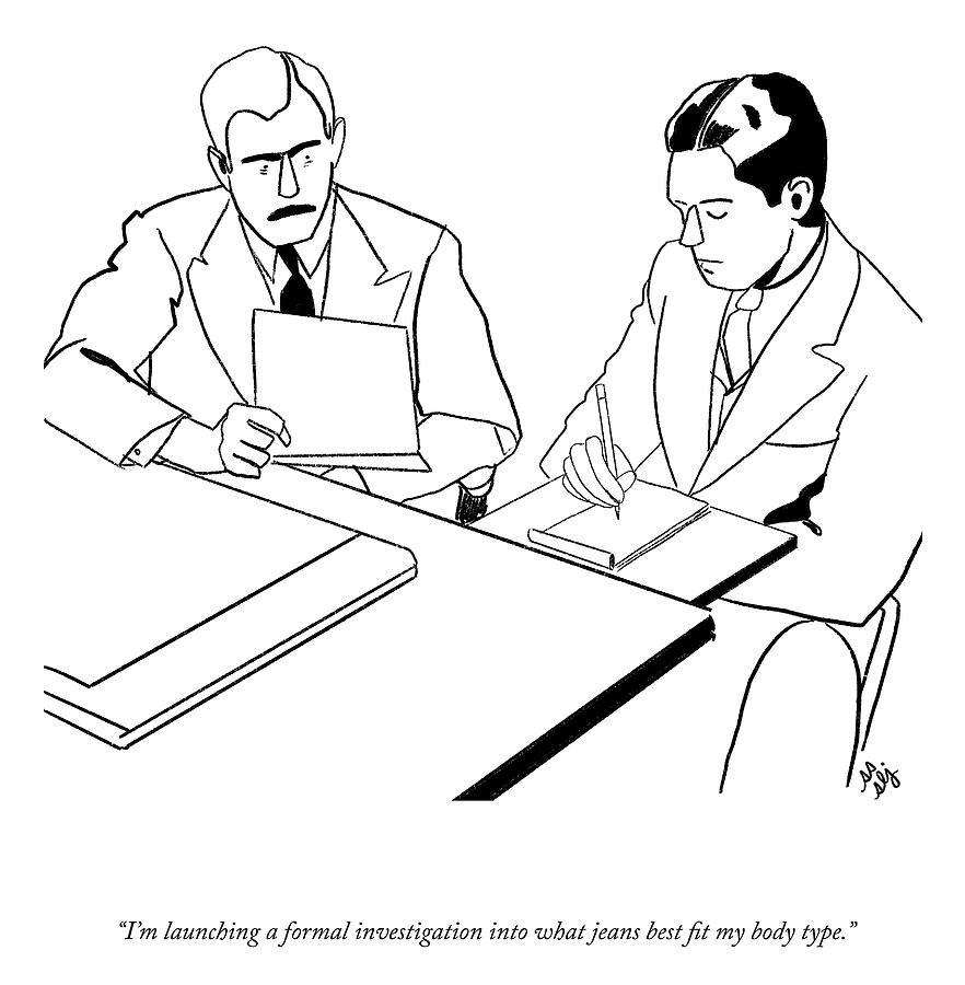 Launching A Formal Investigation Drawing by Sophie Lucido Johnson and Sammi Skolmoski