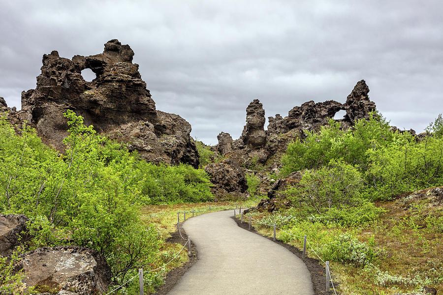 Lava Castle Of Dimmuborgir Photograph