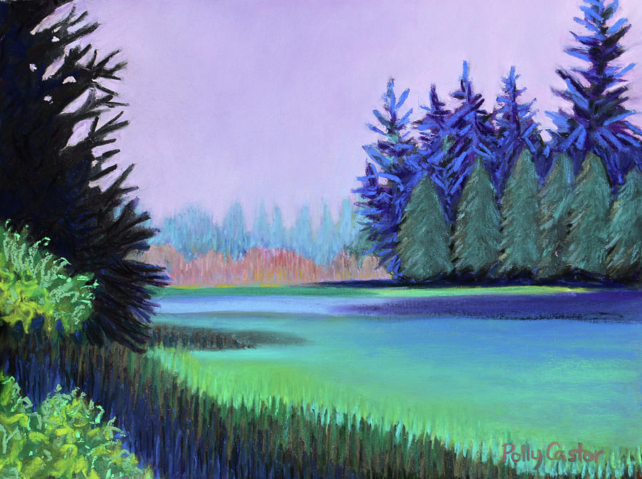Lavender Dawn on Schoodic Peninsula by Polly Castor
