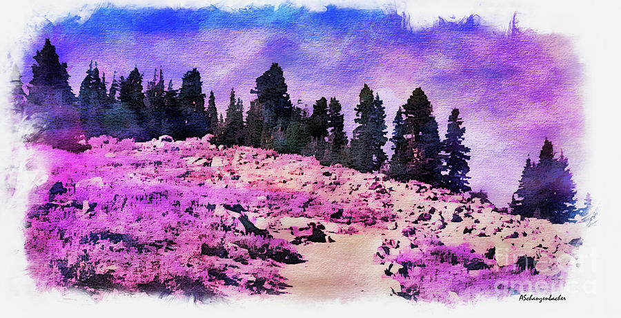 Lavender Fields Mixed Media
